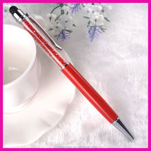 fashion twist crystal touch pen for women's gift