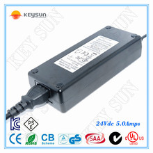 regulated cctv power supply dc adapter 24v 5a 120w