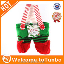 2015 Christmas Decoration elf stocking elf treat bag