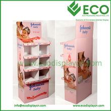 Estante de exhibición de papel corrugado / cartón piso Display Stand para la promoción