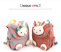 korean style backpack for kids cartoon rabbit walking with backpack children backpack canvas shopping bag