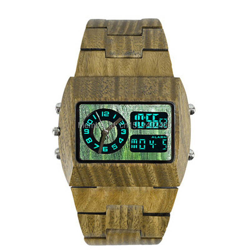 Эксклюзивные мужские часы из дерева 4 цветов.Светодиодные циферблаты(цифровой и аналоговый)