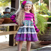 Wholesale cotton newborn baby clothes for promotion vintage girls new design dress