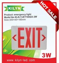 Low energy consumption Emergency exit luminaire,red exit sign,fire safety indicating light