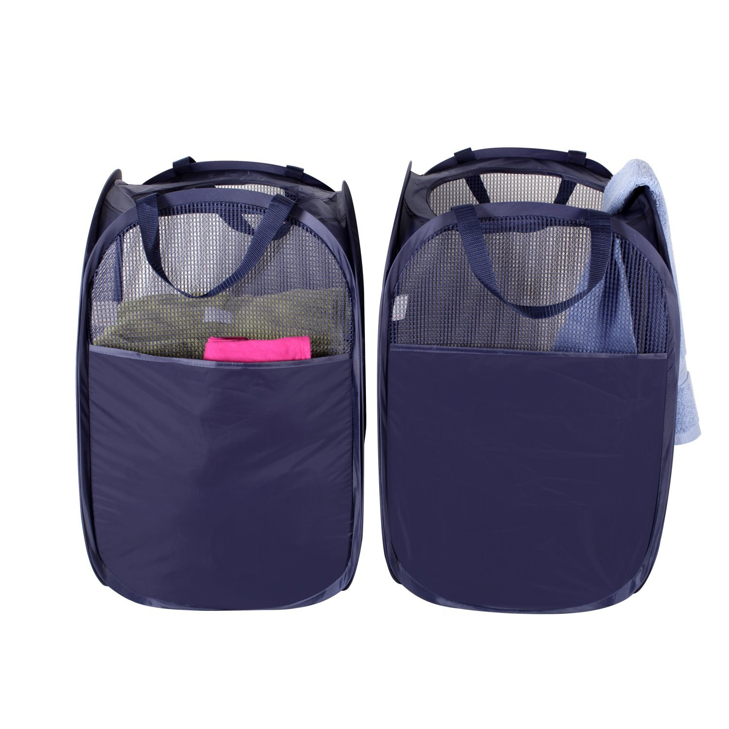 Foldable Pop Up Mesh Hamper Laundry Hamper With Reinforced Carry Handles Pack Of 2 Buy