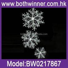 QB090 laser cut hanging wood snowflake decorations