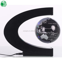 High end gift C shape base 3 inch floating globe different best gift for business partner