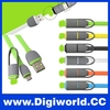 High Quality Micro USB + 8pin USB 2 in 1 Sync Data Charger Cable for iPhone 5s 6 plus for Android