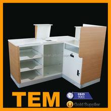 Durable Safty Wooden Shop Counter Design