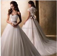 2014 Fashion Brief Removable Vest Wedding Dress Bridal Gown Vestido De Novia