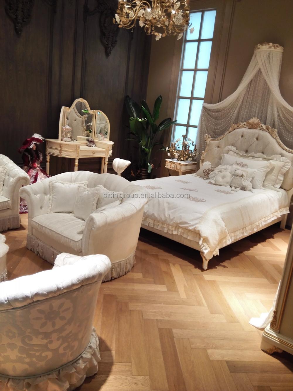 Europese stijl kinderen prinses kaptafel, antieke houten dressoir ...
