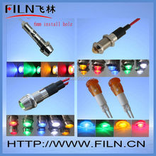 CE 8mm metal indicator light alarm 24v led RED AND GREEN dual color indicator light panel