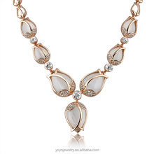 Opal stone wholesale chunky statement set in China jewelry necklace