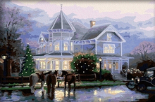 Hot sale digital oil paintings frames wholesale winter landscape pictures