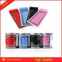 Popular bluetooth 3.0 Ultra-slim Cheap Computer Keyboards Wireless Flexible Keyboard Laptop Mini External Keyboards