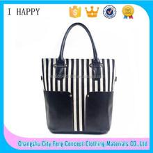 Womens Canvas plaid Handbags Girls Tote Satchel Beach Shoulder shopping Bags