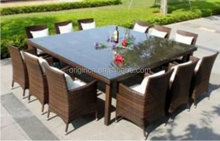 Oversize 12 plazas restaurante cena al aire libre muebles jardín de ...