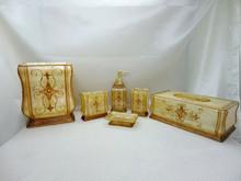 Home Decor Gold Comet Design Bathroom Accessories Set