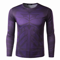 2015 New fashion men's casual long sleeved printed big size t-shirt