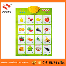 Vegetables and fruit Wall Chart For Children Pronunciation Hanging Charts Educational Wall Charts Early Education Toys