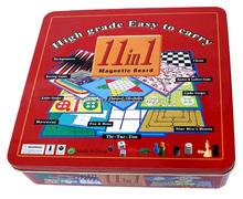 11 in 1 Mini Game travel Set Foldable Magnetic Board Pocket Magnet board game