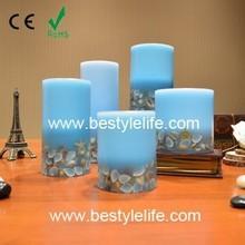blue wax LED candle christmas decoration