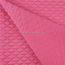 100%polyester knitted quilt jacquard fabric for coat