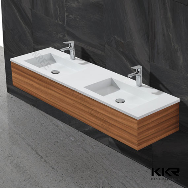 factory artificial stone double bathroom sink countertop