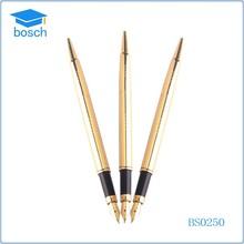 Big discount metal table pen fancy ballpoint pen golden fountain pen