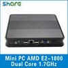 Cheap AMD dual core Mini PC E2-1800 CPU 1.7GHz
