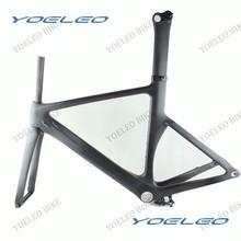 Peso ligero chino Carbon TT cuadros de bicicleta ven con marco + tenedor + tija de sillín + Clamp