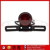 KCM78 DIY Motorcycle Motor Motorbike RED Brake Tail Rear Light Bulb For Harley Biker Cafe Racer Black 12V