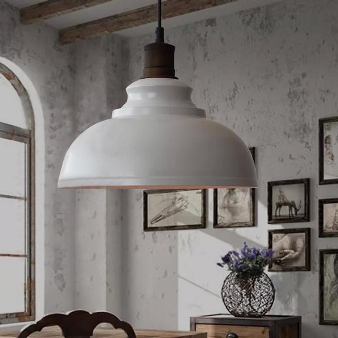 Loft Pendant Lamp With Bulb Cafe Restaurant Canteen Bar