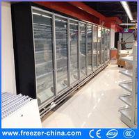 hot sale sliding glass door chest freezer for supermarket, freezer door seal display cabinet