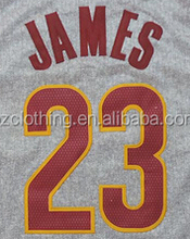 LeBron James #23 Cleveland Gray Basketball Jersey