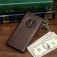 Alibaba Express Wholesale Genuine Leather Men's Travel Wallet Leather # 8009-1C
