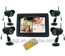 7 inch LCD screen digital wirless camera kits with record 32G dvr remote control