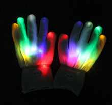 Wholesale Flashing LED Gloves as Rave Party Favor