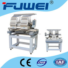 double heads embroidery machine for cap/T-shirt/shoes/flat embroidery
