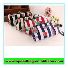 Hot sale small MOQ Stock promotional flag printed coin purse small handbag for lady
