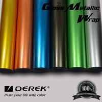 Glossy Blue Car Wraps Vinyl/Glossy Car Color Changing Vinyl Film With Air Bubble Free 1.52x20M