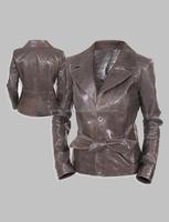 Ladies Blazer Style Leather Coat
