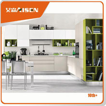 Professional mould design kitchen cabinet glass door