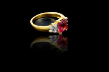 New American Diamond Pink Stone Ring For Ladies