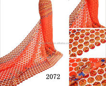 2015 New Fashion Chemical Lace / Guipure Lace / Cupion Lace Fabric 2072 orange