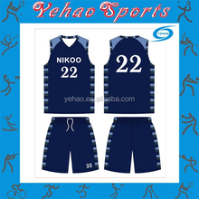 2015 amazing latest sublimated basketball jersey with free design