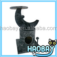 Luxury Dark Grey Cat Scratching Trees House & Funny Pet Products