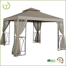 2015 Gazebo for garden china-10x10 square outdoor metal gazebo with metal roof
