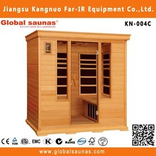 New design solid wood Far infrared sauna improveed circulation ozone therapy