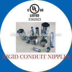galvanized steel british standard pipe nipple
